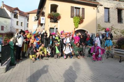 Devant l'office du tourisme de Chorges avant le départ !